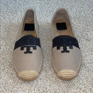 Tory Burch Color-blocked Slip On Espadrilles